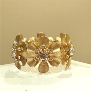 Gold Crystal Flower Bracelet